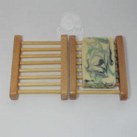 Hemu wood ladder soap dish