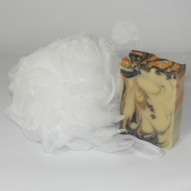 White nylon scrunchie